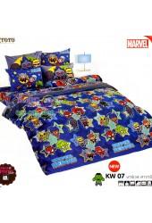 ชุดเครื่องนอนมาร์เวล คาวาอี้ Marvel TOTO ผ้าปูที่นอน ผ้านวม ลิขสิทธิ์แท้โตโต้ KW07