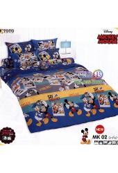 ชุดเครื่องนอนมิกกี้เมาส์ Mickey Mouse TOTO ผ้าปูที่นอน ผ้านวม ลิขสิทธิ์แท้โตโต้ MK02