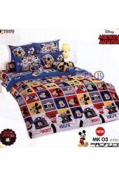 ชุดเครื่องนอนมิกกี้เมาส์ Mickey Mouse TOTO ผ้าปูที่นอน ผ้านวม ลิขสิทธิ์แท้โตโต้ MK03