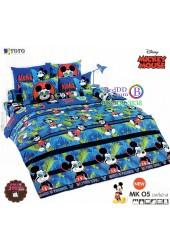 ชุดเครื่องนอนมิกกี้เมาส์ Mickey Mouse TOTO ผ้าปูที่นอน ผ้านวม ลิขสิทธิ์แท้โตโต้ MK05