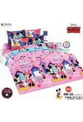 ชุดเครื่องนอนมิกกี้เมาส์ Mickey Mouse TOTO ผ้าปูที่นอน ผ้านวม ลิขสิทธิ์แท้โตโต้ MK06