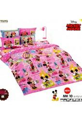 ชุดเครื่องนอนมิกกี้เมาส์ Mickey Mouse TOTO ผ้าปูที่นอน ผ้านวม ลิขสิทธิ์แท้โตโต้ MK10