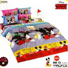ชุดเครื่องนอนมิกกี้เมาส์ Mickey Mouse TOTO ผ้าปูที่นอน ผ้านวม ลิขสิทธิ์แท้โตโต้ MK13