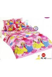 ชุดเครื่องนอนเจ้าหญิงดิสนีย์ Disney Princess TOTO ผ้าปูที่นอน ผ้านวม ลิขสิทธิ์แท้โตโต้ PC42