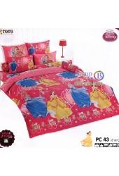ชุดเครื่องนอนเจ้าหญิงดิสนีย์ Disney Princess TOTO ผ้าปูที่นอน ผ้านวม ลิขสิทธิ์แท้โตโต้ PC43