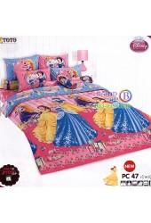 ชุดเครื่องนอนเจ้าหญิงดิสนีย์ Disney Princess TOTO ผ้าปูที่นอน ผ้านวม ลิขสิทธิ์แท้โตโต้ PC47