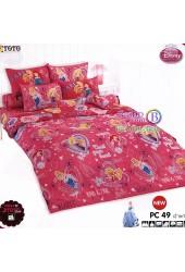 ชุดเครื่องนอนเจ้าหญิงดิสนีย์ Disney Princess TOTO ผ้าปูที่นอน ผ้านวม ลิขสิทธิ์แท้โตโต้ PC49