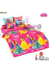 ชุดเครื่องนอนเจ้าหญิงดิสนีย์ Disney Princess TOTO ผ้าปูที่นอน ผ้านวม ลิขสิทธิ์แท้โตโต้ PC51