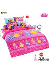 ชุดเครื่องนอนเจ้าหญิงดิสนีย์ Disney Princess TOTO ผ้าปูที่นอน ผ้านวม ลิขสิทธิ์แท้โตโต้ PC52
