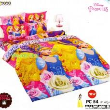ชุดเครื่องนอนเจ้าหญิงดิสนีย์ Disney Princess TOTO ผ้าปูที่นอน ผ้านวม ลิขสิทธิ์แท้โตโต้ PC54