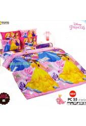 ชุดเครื่องนอนเจ้าหญิงดิสนีย์ Disney Princess TOTO ผ้าปูที่นอน ผ้านวม ลิขสิทธิ์แท้โตโต้ PC55