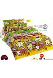 ชุดเครื่องนอนปอมปอมปูริน Pom Pom Purin TOTO ผ้าปูที่นอน ผ้านวม ลิขสิทธิ์แท้โตโต้ PM12
