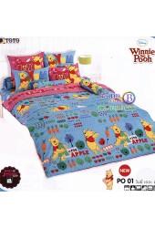 ชุดเครื่องนอนหมีพูห์ Pooh Bear TOTO ผ้าปูที่นอน ผ้านวม ลิขสิทธิ์แท้โตโต้ PO01