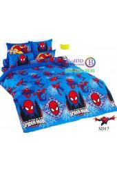 ชุดเครื่องนอนสไปเดอร์แมน Spider Man TOTO ผ้าปูที่นอน ผ้านวม ลิขสิทธิ์แท้โตโต้ SD17