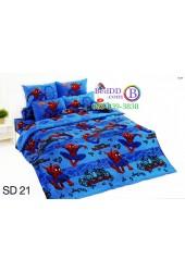ชุดเครื่องนอนสไปเดอร์แมน Spider Man TOTO ผ้าปูที่นอน ผ้านวม ลิขสิทธิ์แท้โตโต้ SD21