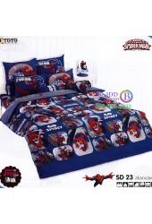 ชุดเครื่องนอนสไปเดอร์แมน Spider Man TOTO ผ้าปูที่นอน ผ้านวม ลิขสิทธิ์แท้โตโต้ SD23