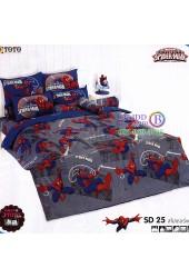 ชุดเครื่องนอนสไปเดอร์แมน Spider Man TOTO ผ้าปูที่นอน ผ้านวม ลิขสิทธิ์แท้โตโต้ SD25