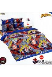 ชุดเครื่องนอนสไปเดอร์แมน Spider Man TOTO ผ้าปูที่นอน ผ้านวม ลิขสิทธิ์แท้โตโต้ SD26