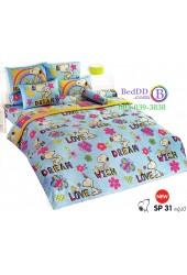 ชุดเครื่องนอนสนูปี้ หรือสนู๊ปปี้ Snoopy TOTO ผ้าปูที่นอน ผ้านวม ลิขสิทธิ์แท้โตโต้ SP31