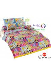 ชุดเครื่องนอนสนูปี้ หรือสนู๊ปปี้ Snoopy TOTO ผ้าปูที่นอน ผ้านวม ลิขสิทธิ์แท้โตโต้ SP32