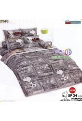 ชุดเครื่องนอนสนูปี้ หรือสนู๊ปปี้ Snoopy TOTO ผ้าปูที่นอน ผ้านวม ลิขสิทธิ์แท้โตโต้ SP34