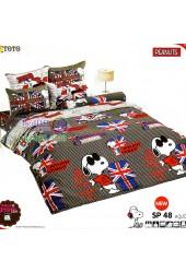 ชุดเครื่องนอนสนูปี้ หรือสนู๊ปปี้ Snoopy TOTO ผ้าปูที่นอน ผ้านวม ลิขสิทธิ์แท้โตโต้ SP48