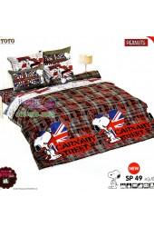 ชุดเครื่องนอนสนูปี้ หรือสนู๊ปปี้ Snoopy TOTO ผ้าปูที่นอน ผ้านวม ลิขสิทธิ์แท้โตโต้ SP49