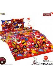 ชุดเครื่องนอนสนูปี้ หรือสนู๊ปปี้ Snoopy TOTO ผ้าปูที่นอน ผ้านวม ลิขสิทธิ์แท้โตโต้ SP52