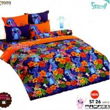 ชุดเครื่องนอนลีโล่ แอนด์ สติทช์ Lilo & Stitch TOTO ผ้าปูที่นอน ผ้านวม ลิขสิทธิ์แท้โตโต้ ST26