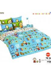ชุดเครื่องนอนมินนาโนะ ตาโบ Minna No Tabo TOTO ผ้าปูที่นอน ผ้านวม ลิขสิทธิ์แท้โตโต้ TB16