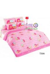 ชุดเครื่องนอนลิตเติ้ลทวินสตาร์ Little Twin Stars TOTO ผ้าปูที่นอน ผ้านวม ลิขสิทธิ์แท้โตโต้ TS06