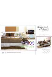 ชุดเครื่องนอนลายกราฟฟิคสีน้ำตาลเทาพิมพ์ลาย Tulip Delight ผ้าปูที่นอน ผ้านวมทิวลิป ดีไลท์ DL004