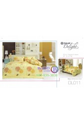 ชุดเครื่องนอนพิมพ์ลายพื้นเหลือง Tulip Delight ผ้าปูที่นอน ผ้านวมทิวลิป ดีไลท์ DL011