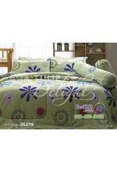 ชุดเครื่องนอนพิมพ์ลายสีเขียวอ่อน Tulip Delight ผ้าปูที่นอน ผ้านวมทิวลิป ดีไลท์ DL019