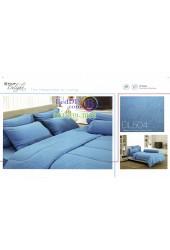 ชุดเครื่องนอนลายกราฟฟิคสีฟ้า Tulip Delight ผ้าปูที่นอน ผ้านวมทิวลิป ดีไลท์ DL504