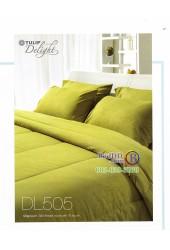 ชุดเครื่องนอนลายกราฟฟิคสีเขียวขี้ตองอ่อน Tulip Delight ผ้าปูที่นอน ผ้านวมทิวลิป ดีไลท์ DL505