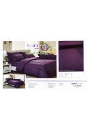 ชุดเครื่องนอนลายกราฟฟิคสีม่วงเข้ม Tulip Delight ผ้าปูที่นอน ผ้านวมทิวลิป ดีไลท์ DL511