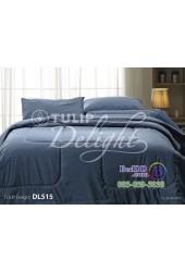 ชุดเครื่องนอนพิมพ์ลายสีฟ้าเทา Tulip Delight ผ้าปูที่นอน ผ้านวมทิวลิป ดีไลท์ DL515