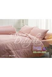 ชุดเครื่องนอนพิมพ์ลายสีโอลด์โรส Tulip Delight ผ้าปูที่นอน ผ้านวมทิวลิป ดีไลท์ DL516