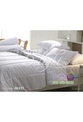 ชุดเครื่องนอนพิมพ์ลายสีขาว Tulip Delight ผ้าปูที่นอน ผ้านวมทิวลิป ดีไลท์ DL517