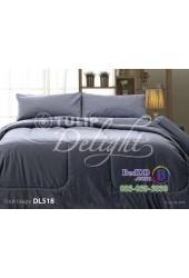 ชุดเครื่องนอนพิมพ์ลายสีเทา Tulip Delight ผ้าปูที่นอน ผ้านวมทิวลิป ดีไลท์ DL518