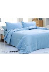 ชุดเครื่องนอนสีพื้น สีฟ้าอ่อน Tulip Delight ผ้าปูที่นอน ผ้านวมทิวลิป ดีไลท์ DL-LIGHT BLUE