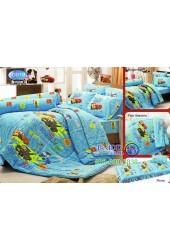 ชุดเครื่องนอนลาย Cars แม็คควีน  ผ้าปูที่นอน ผ้านวมทิวลิป D019