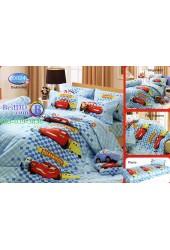 ชุดเครื่องนอนลาย Cars แม็คควีน  ผ้าปูที่นอน ผ้านวมทิวลิป D024