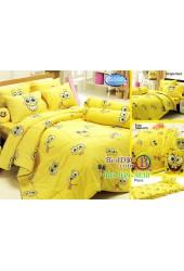 ชุดเครื่องนอนลาย SpongeBob สปอนจ์บ๊อบ  ผ้าปูที่นอน ผ้านวมทิวลิป S002