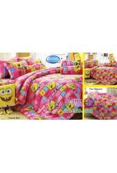 ชุดเครื่องนอนลาย SpongeBob สปอนจ์บ๊อบ  ผ้าปูที่นอน ผ้านวมทิวลิป S003