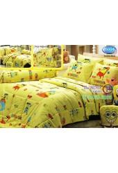 ชุดเครื่องนอนลาย SpongeBob สปอนจ์บ๊อบ  ผ้าปูที่นอน ผ้านวมทิวลิป S004