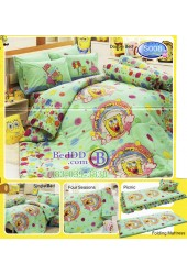 ชุดเครื่องนอนลาย SpongeBob สปอนจ์บ๊อบ  ผ้าปูที่นอน ผ้านวมทิวลิป S008