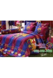 ชุดเครื่องนอนลายสโมสรทีมบาร์เซโลน่า บาซ่า Barcelona Tulip ผ้าปูที่นอน ผ้านวมทิวลิป BC001