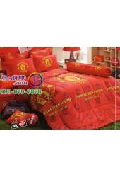 ชุดเครื่องนอนลายสโมสรทีมแมนยู แมนเชสเตอร์ ชุดเครื่องนอน Manchester United Tulip ผ้าปูที่นอน ผ้านวมทิวลิป MU001